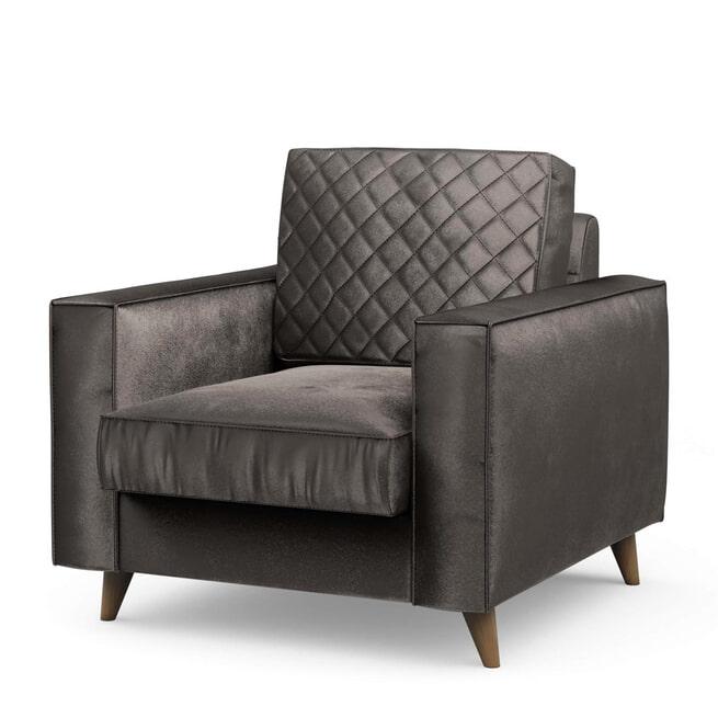 Rivièra Maison Fauteuil 'Kendall' Velvet, kleur Grimaldi Grey
