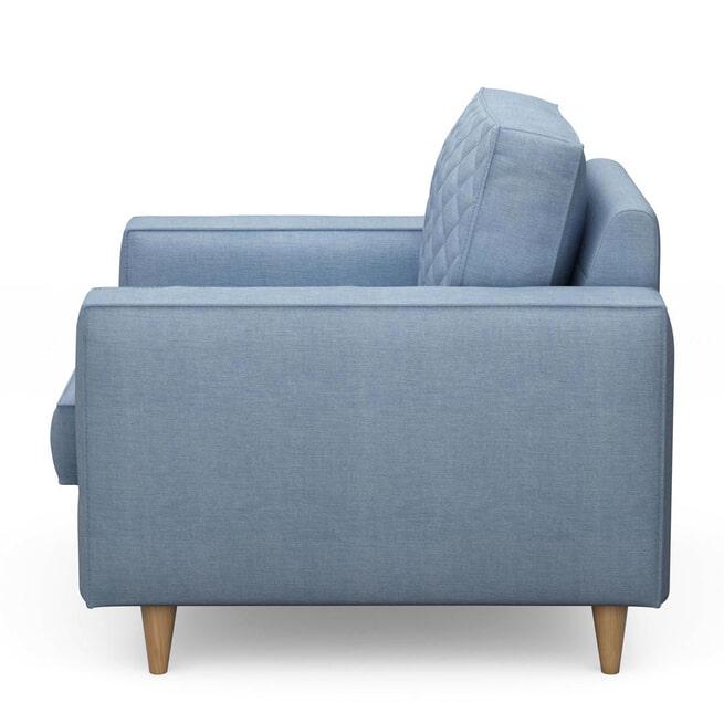 Rivièra Maison Fauteuil 'Kendall' Cotton, kleur Ice Blue