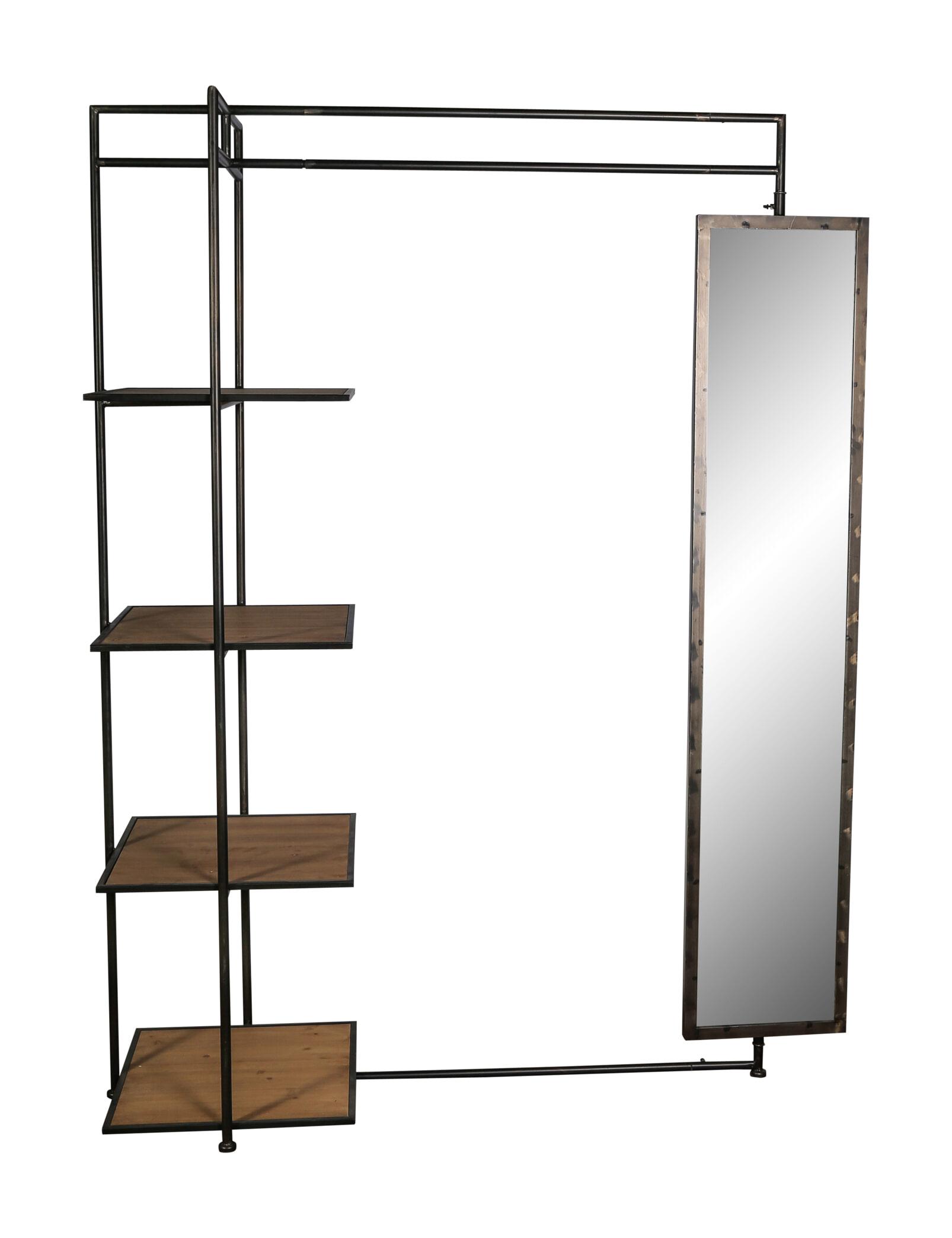 PTMD Kledingrek 'Abbi' Met spiegel, 154 x 193,5cm