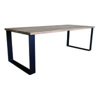 PTMD Eettafel 'Oakly' Grijs Eikenhout, 240 x 88cm