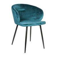 PTMD Eetkamerstoel 'Move' Velvet, kleur Turquoise