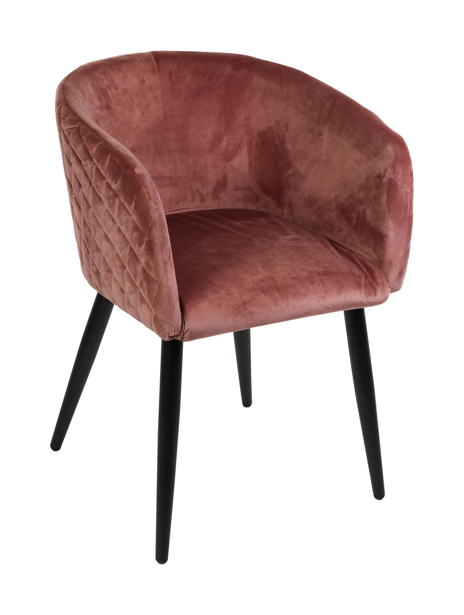 PTMD Eetkamerstoel 'Mace' Velvet, kleur Roze