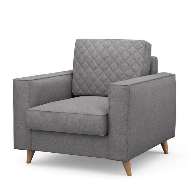 Rivièra Maison Fauteuil 'Kendall' Oxford Weave, kleur Steel Grey