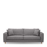Rivièra Maison 3,5-zits Bank 'Kendall' Oxford Weave, kleur Steel Grey