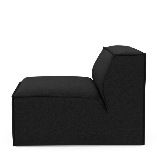 Rivièra Maison Modulaire Bank 'The Jagger' Center 95cm, Oxford Weave, kleur Basic Black
