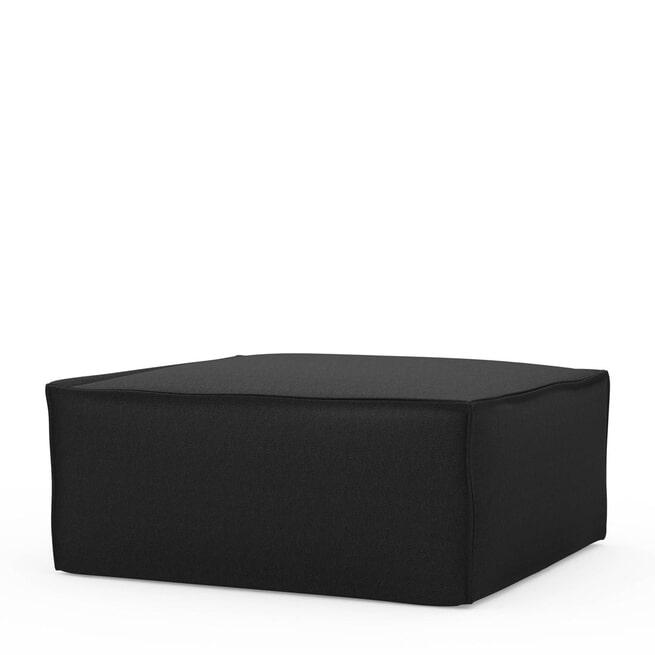 Rivièra Maison Hocker 'The Jagger' Oxford Weave, kleur Basic Black