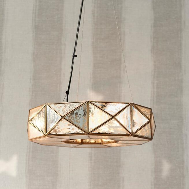 Rivièra Maison Hanglamp 'Copenhagen M' 45cm, kleur Gold