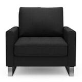 Rivièra Maison Fauteuil 'West Houston' Oxford Weave, kleur Basic Black
