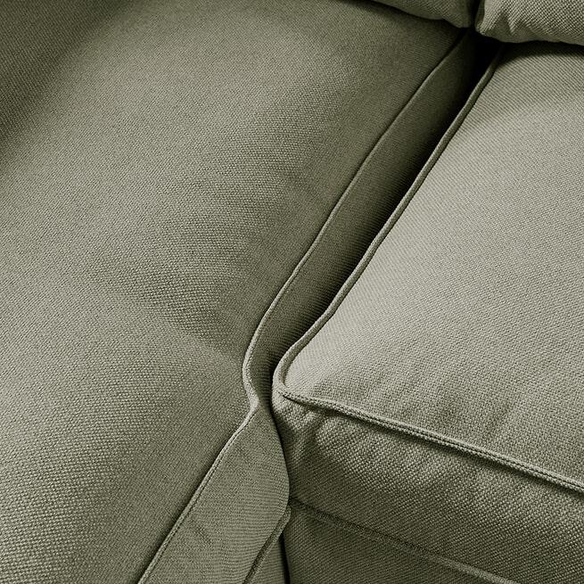 Rivièra Maison Loungebank 'Brompton Cross' Links, Oxford Weave, kleur Forest Green