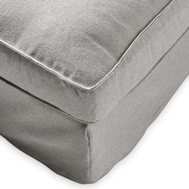 Rivièra Maison Loungebank 'Brompton Cross' Links, Oxford Weave, kleur Steel Grey