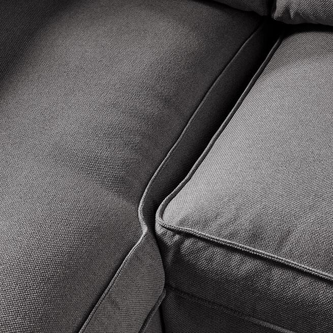 Rivièra Maison Loungebank 'Brompton Cross' Links, Oxford Weave, kleur Classic Charcoal