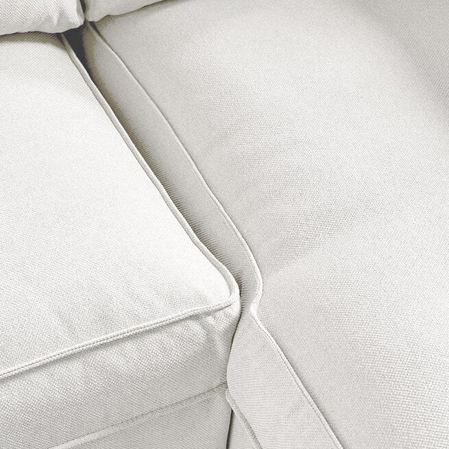 Rivièra Maison Loungebank 'Brompton Cross' Rechts, Oxford Weave, kleur Alaskan White