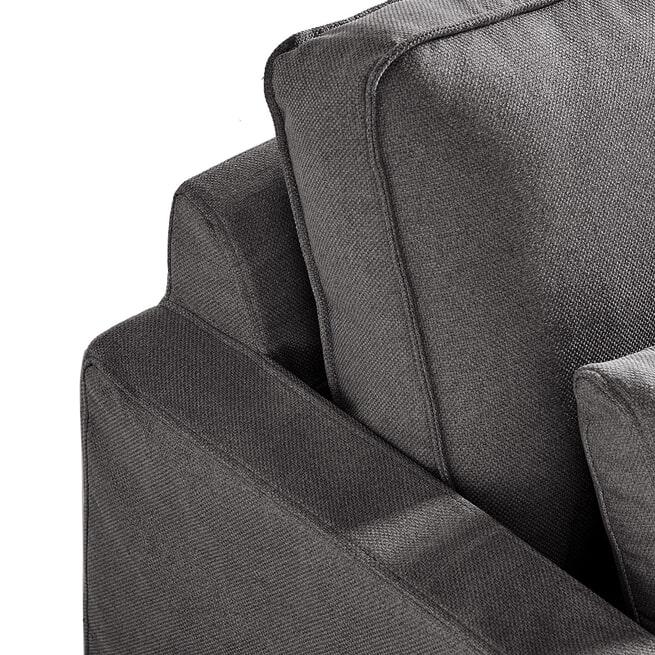 Rivièra Maison Loungebank 'Brompton Cross' Rechts, Oxford Weave, kleur Classic Charcoal