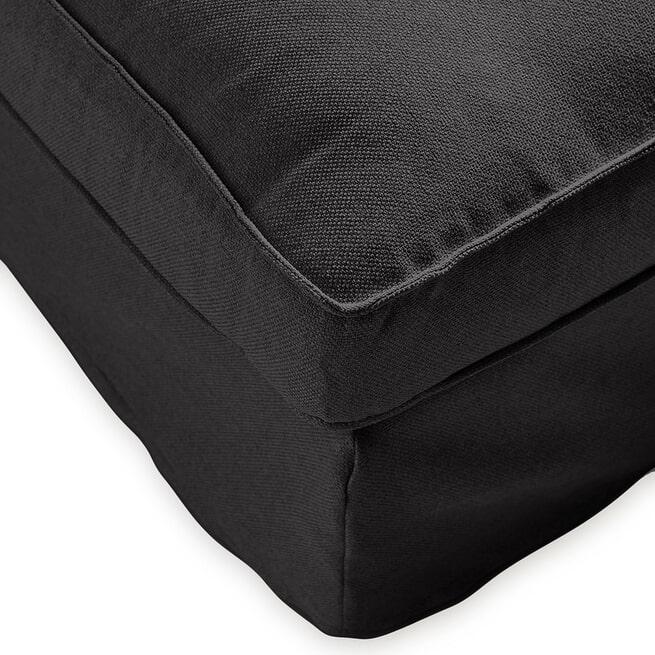 Rivièra Maison Loungebank 'Brompton Cross' Rechts, Oxford Weave, kleur Basic Black