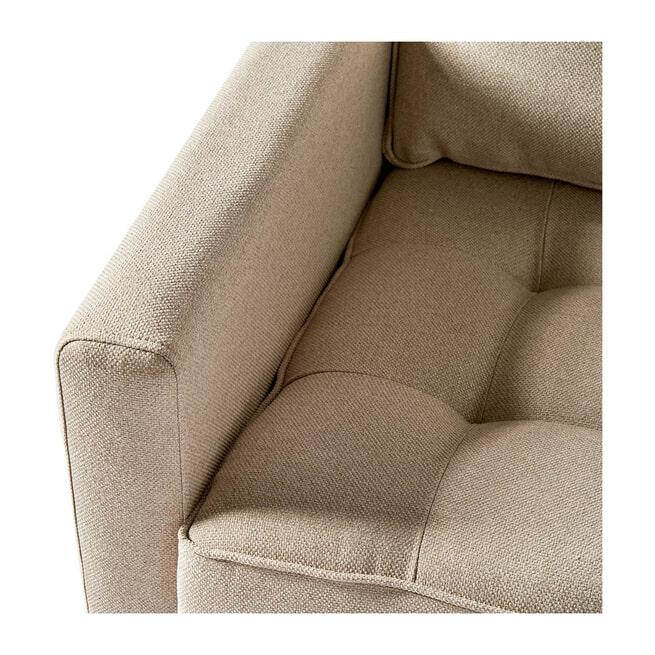 Rivièra Maison Loungebank 'West Houston' Rechts, Oxford Weave, kleur Anvers Flax