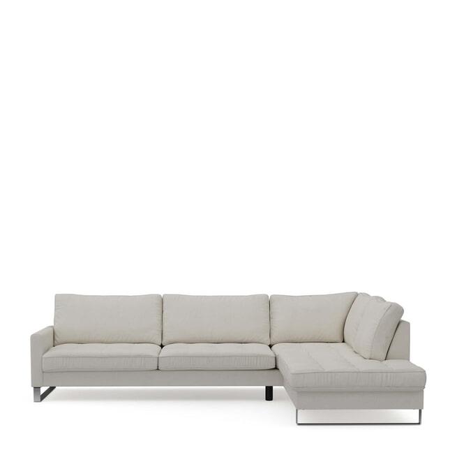 Rivièra Maison Loungebank 'West Houston' Rechts, Oxford Weave, kleur Alaskan White