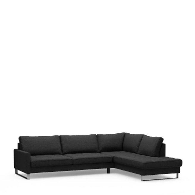 Rivièra Maison Loungebank 'West Houston' Rechts, Oxford Weave, kleur Basic Black