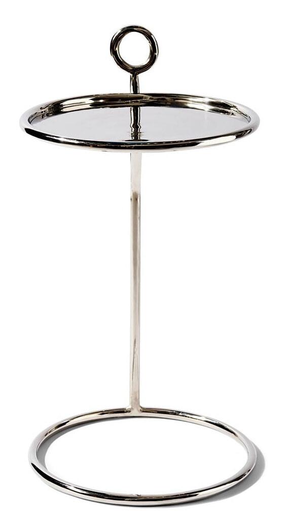 Rivièra Maison Bijzettafel 'Nolita' 35cm, kleur Silver