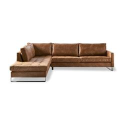 Rivièra Maison Loungebank 'West Houston' Pellini Leder, kleur bruin