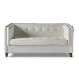 Rivièra Maison 2-zits Bank 'Radziwill' Linen, kleur Pristine White