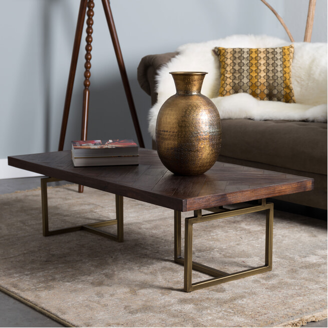 Dutchbone Salontafel 'Class' Antique Brass, 120 x 60cm