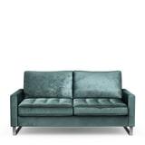 Rivièra Maison 2,5-zits Bank 'West Houston' Velvet, kleur Mineral Blue