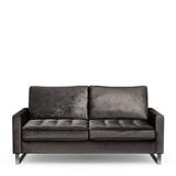 Rivièra Maison 2,5-zits Bank 'West Houston' Velvet, kleur Grimaldi Grey