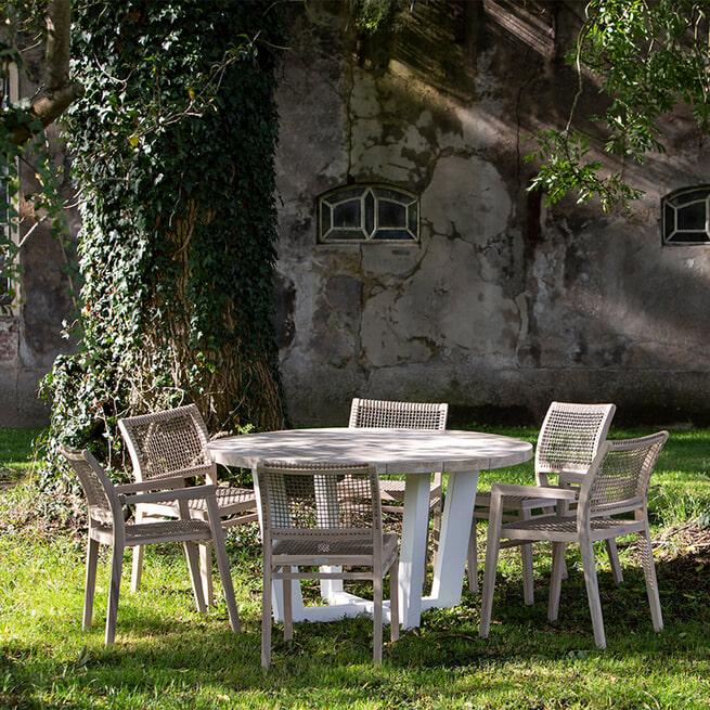 Rivièra Maison Tuinstoel 'Palma' met armleuning