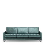 Rivièra Maison 3,5-zits Bank 'West Houston' Velvet, kleur Mineral Blue