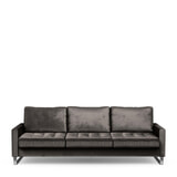 Rivièra Maison 3,5-zits Bank 'West Houston' Velvet, kleur Grimaldi Grey