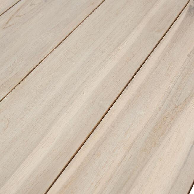 Rivièra Maison Ronde Tuintafel 'Bondi Beach' 140cm, kleur Hout / Wit