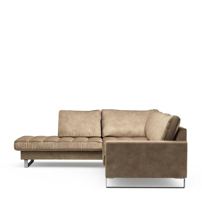 Rivièra Maison Loungebank 'West Houston' Links, Velvet, kleur Golden Beige