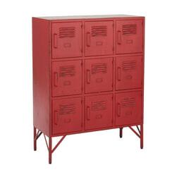 J-Line Lockerkast 'Rodolf' kleur Rood