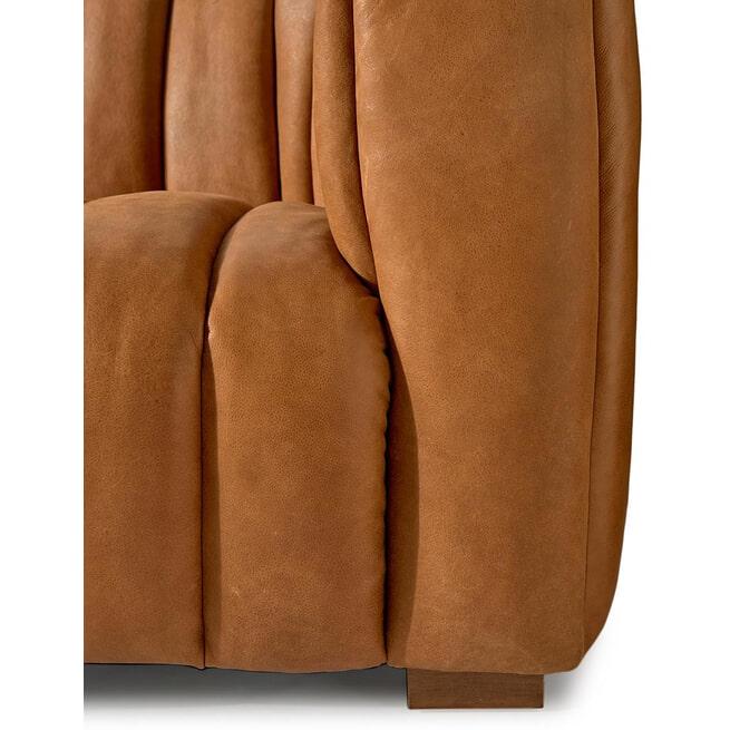 Rivièra Maison 3,5-zits Bank 'Pulitzer' Leather, kleur Cognac