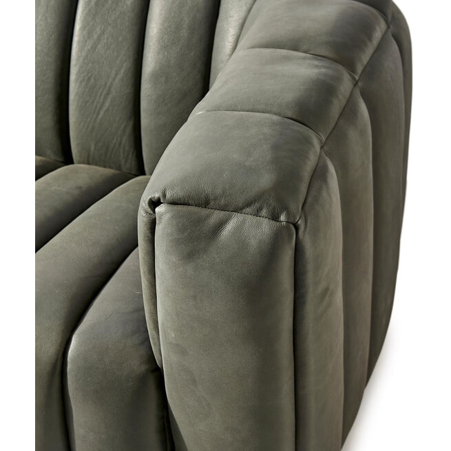 Rivièra Maison 3,5-zits Bank 'Pulitzer' Leather, kleur Charcoal
