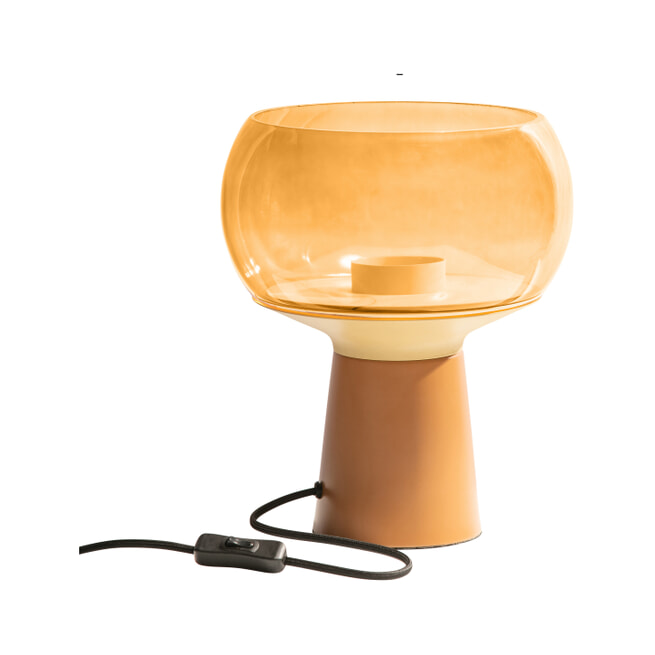 BePureHome Tafellamp 'Mushroom' 28xØ24cm, kleur Syrup