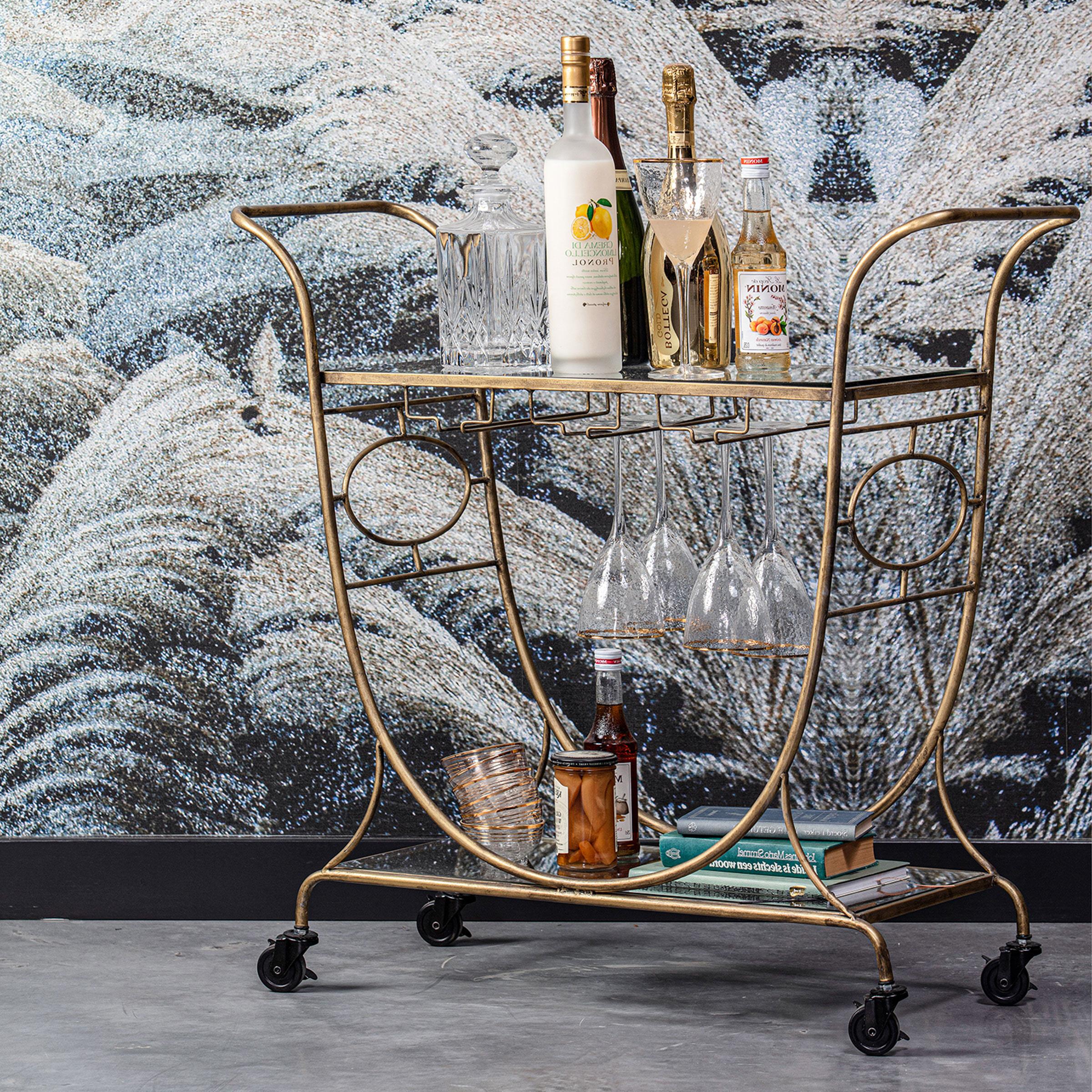 BePureHome Trolley 'Decadent' 82 x 84cm, kleur Antique Brass
