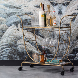 BePureHome Trolley 'Decadent' 82 x 84cm, kleur Antique Brass