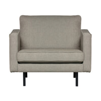 BePureHome Fauteuil 'Rodeo' Stretched, kleur Nougat