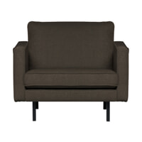 BePureHome Fauteuil 'Rodeo' Stretched, kleur Warm Grey/Brown