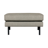 BePureHome Hocker 'Rodeo' Stretched, kleur Nougat