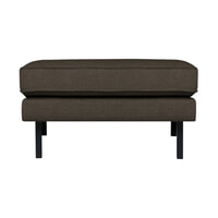 BePureHome Hocker 'Rodeo' Stretched, kleur Warm Grey/Brown