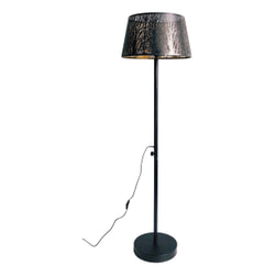 WOOOD Vloerlamp 'Keto', kleur Zwart/Antique Brass