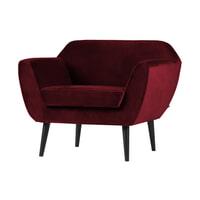 WOOOD Fauteuil 'Rocco' Velvet, kleur Rood