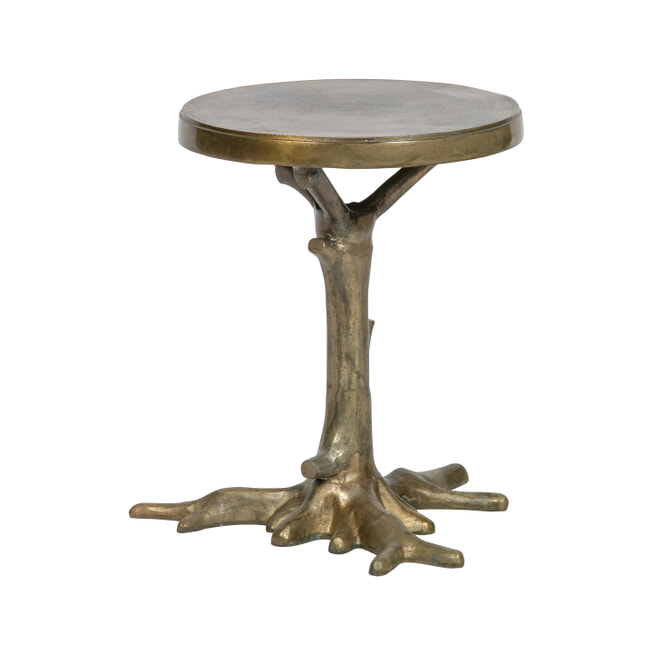 BePureHome Bijzettafel 'Rooted' Ø40cm, kleur Brass