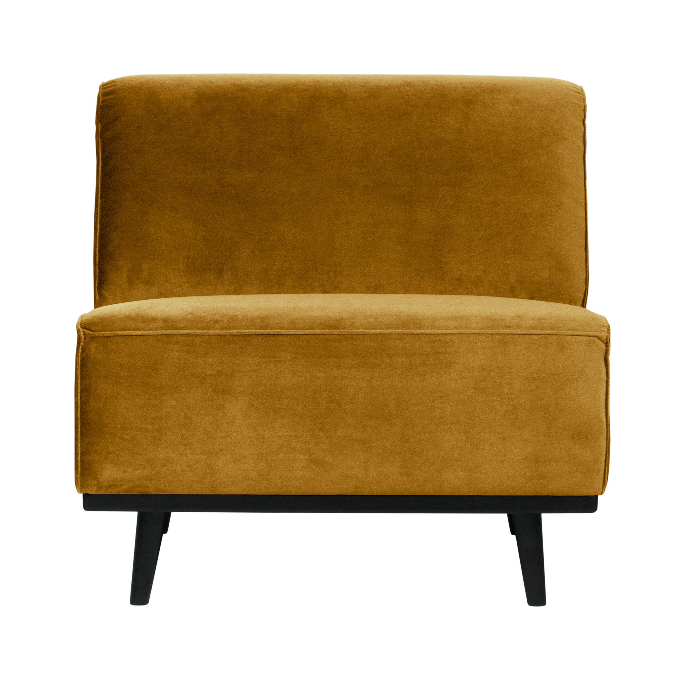 BePureHome Bank 'Statement' 1-zits Element, Velvet, kleur Honing Geel online kopen