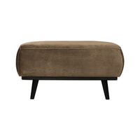BePureHome Hocker 'Statement' Velvet, kleur Taupe