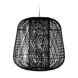 WOOOD Exclusive Hanglamp 'Moza' XXL Bamboe 100cm , kleur Zwart