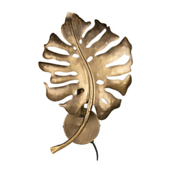 BePureHome Wandlamp 'Leaf', kleur Antique Brass
