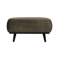 BePureHome Hocker 'Statement' Velvet, kleur Warm Groen